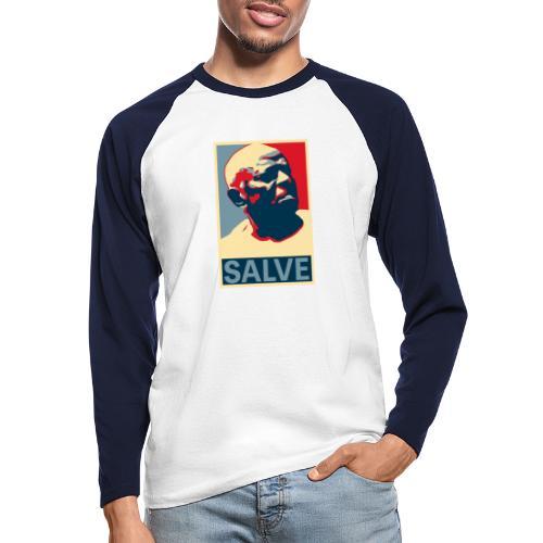 Salve Mestre Bimba - Men's Long Sleeve Baseball T-Shirt