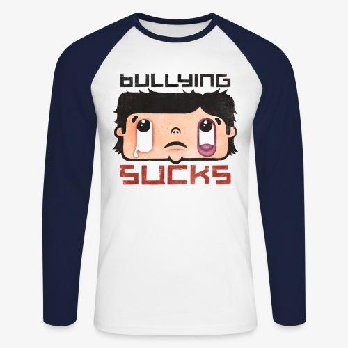 Bullying sucks - Miesten pitkähihainen baseballpaita