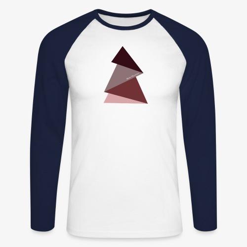 fir triangles 2 - Men's Long Sleeve Baseball T-Shirt