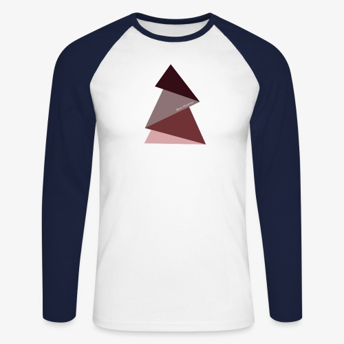 sapin triangles 2 - T-shirt baseball manches longues Homme