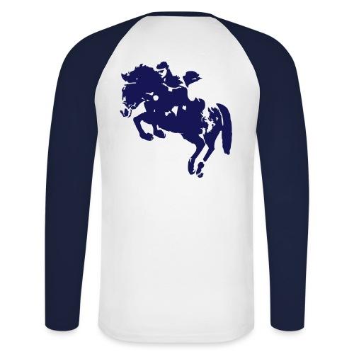 springreiter_pferd - Männer Baseballshirt langarm