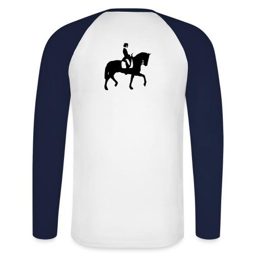 dressurreiter pferd - Männer Baseballshirt langarm