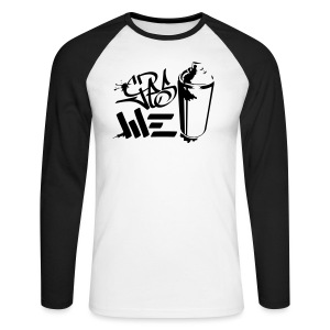 Yes We (spray)Can Graffiti handstyle tag - Männer Baseballshirt langarm