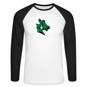 Colored Graffiti 3D Block Letter A 2 - Männer Baseballshirt langarm