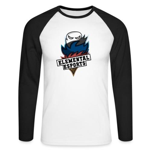 Elemental eSports | 2018 Logo - Langærmet herre-baseballshirt