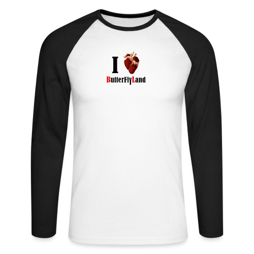 I love Butterflyland - T-shirt baseball manches longues Homme