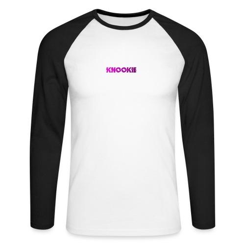 knookie smal logo - Mannen baseballshirt lange mouw