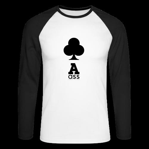 KREUZ ASS - Männer Baseballshirt langarm