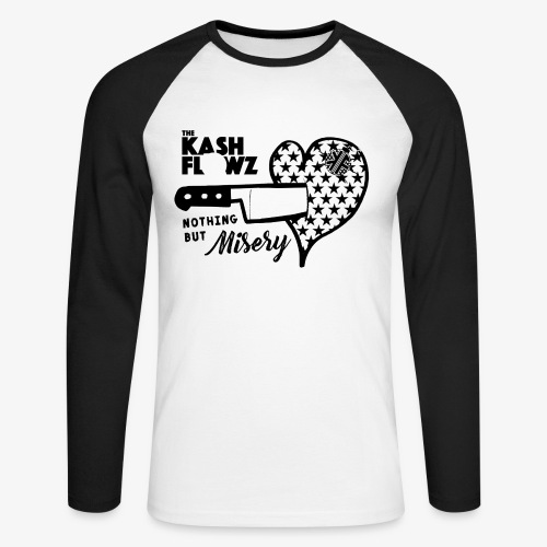 Nothing But Misery Knife Heart Black - T-shirt baseball manches longues Homme