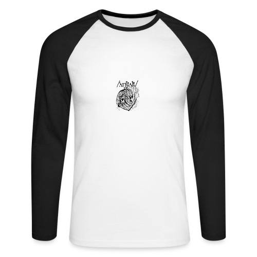logo mit wesen (schwarz) - Männer Baseballshirt langarm