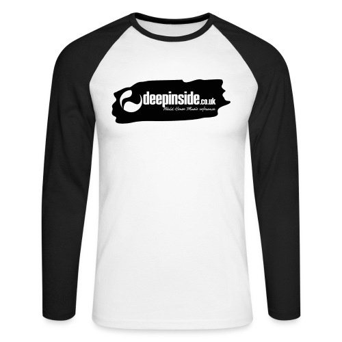 deepinside world reference marker logo black - T-shirt baseball manches longues Homme