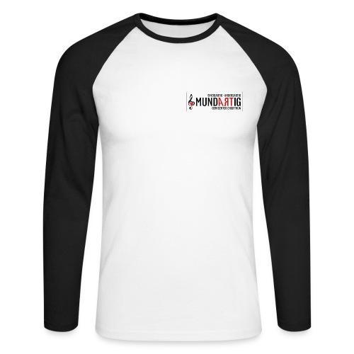 Logo Mundartig - Männer Baseballshirt langarm
