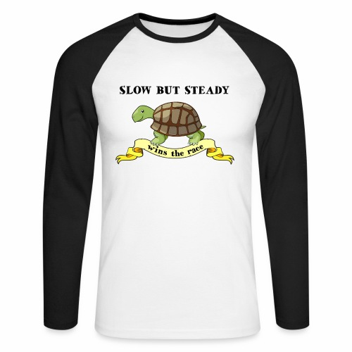 Slow but Steady - Långärmad basebolltröja herr