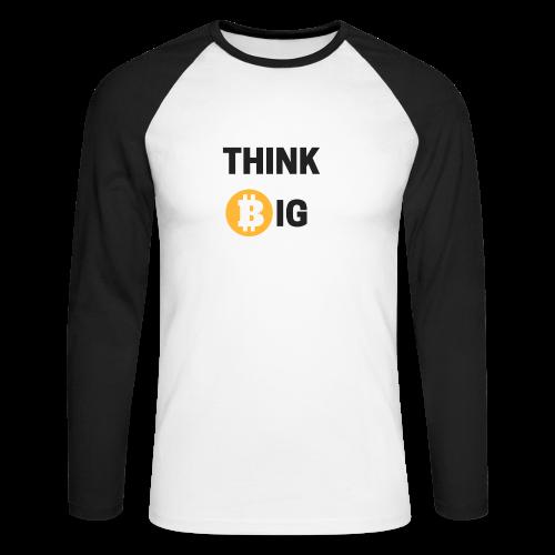 Think Big - Männer Baseballshirt langarm