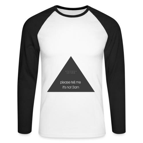 It's not 3am - Men's Long Sleeve Baseball T-Shirt