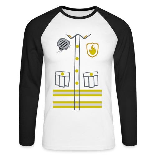Fireman Costume - Dark edition - Men's Long Sleeve Baseball T-Shirt