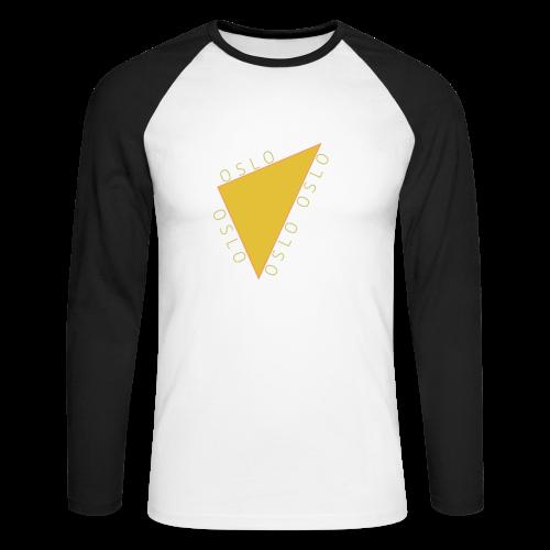 OSLO Collection - Langermet baseball-skjorte for menn