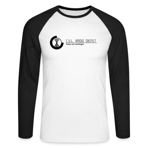 CRD Logo met Tekst - Mannen baseballshirt lange mouw