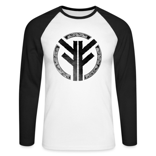 Forefather symbol black - Men's Long Sleeve Baseball T-Shirt