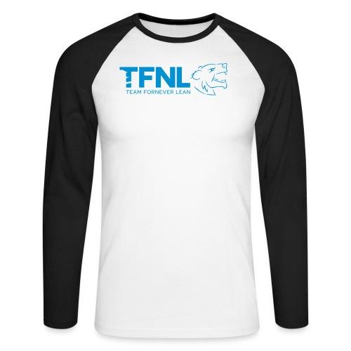 TFNL Blue Logo Longsleeve Tee - Men's Long Sleeve Baseball T-Shirt