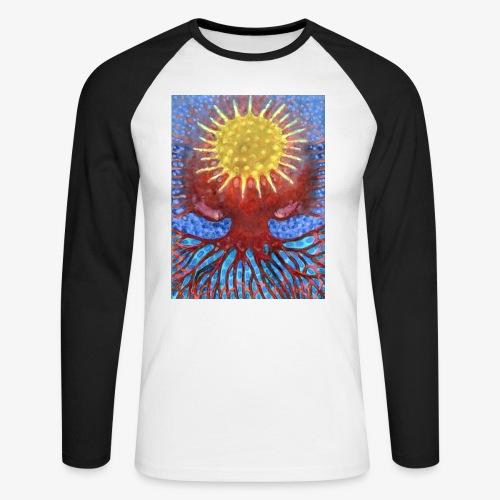 Niebiańskie Drzewo - Koszulka męska bejsbolowa z długim rękawem