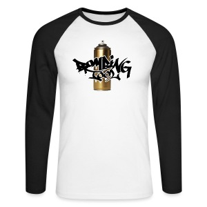 Golden Spray Can Bombing Tool - Männer Baseballshirt langarm