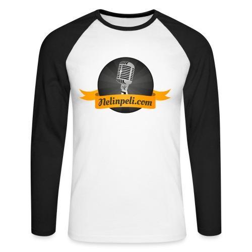 Nelinpelin logo - Miesten pitkähihainen baseballpaita
