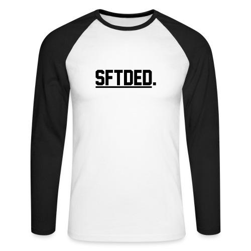 SFTDED W/Line BLK - Mannen baseballshirt lange mouw