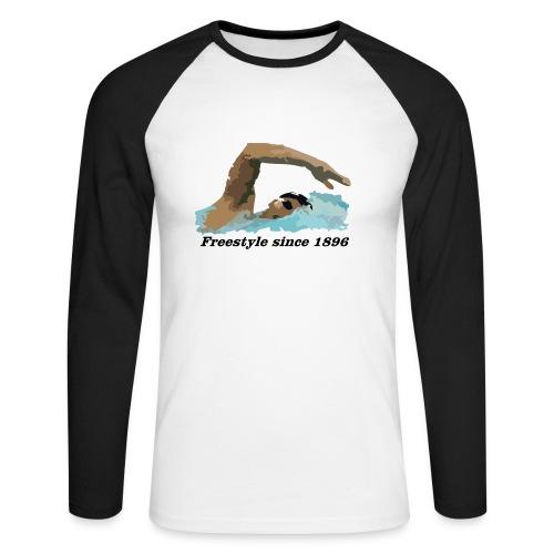 Freestyle - Koszulka męska bejsbolowa z długim rękawem
