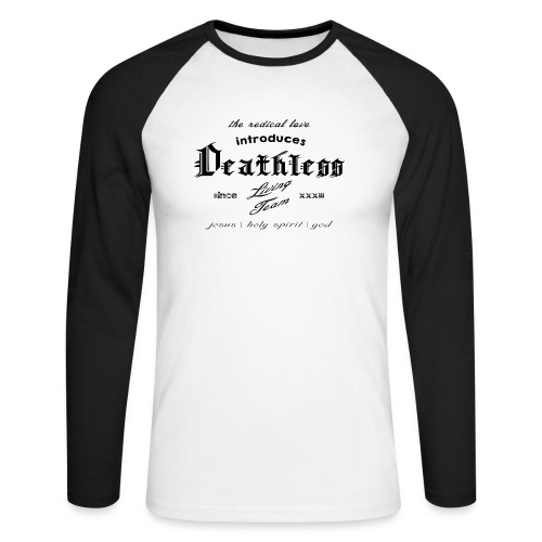 deathless living team schwarz - Männer Baseballshirt langarm