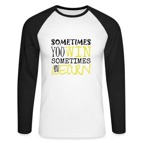 SOMETIMES - Männer Baseballshirt langarm