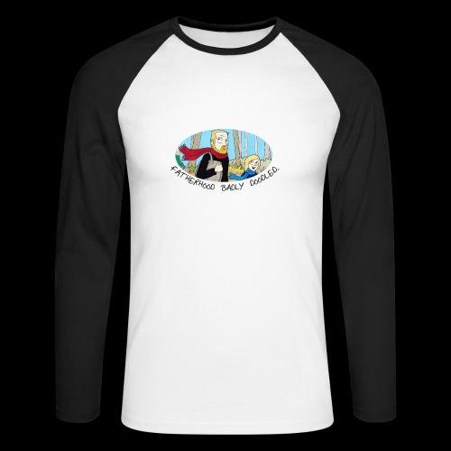Fatherhood Badly Doodled - Men's Long Sleeve Baseball T-Shirt