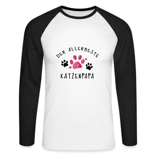 Der allerbeste Katzenpapa - Männer Baseballshirt langarm