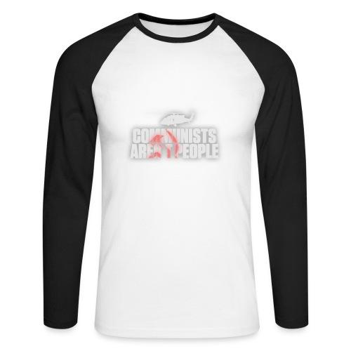 Communists aren't People (White) (No uzalu logo) - Men's Long Sleeve Baseball T-Shirt