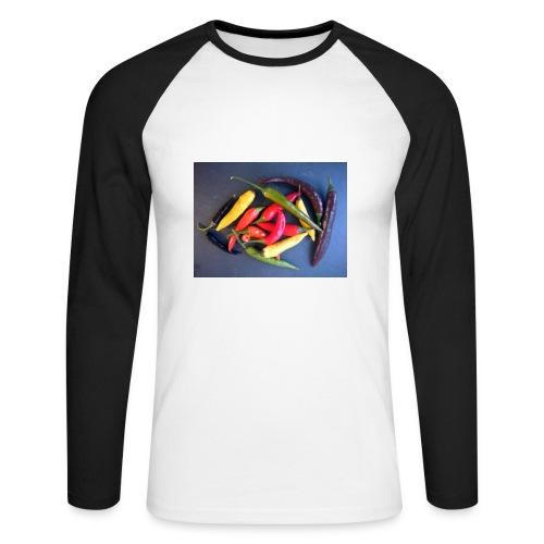 Chili bunt - Männer Baseballshirt langarm