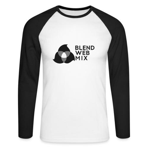 logo noir - T-shirt baseball manches longues Homme