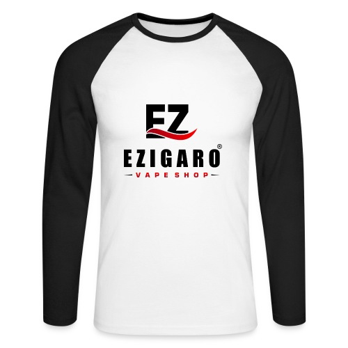 EZIGARO Vapeshop - Männer Baseballshirt langarm