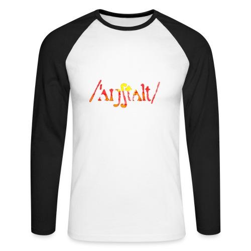 logo gerastert (flamme) - Männer Baseballshirt langarm