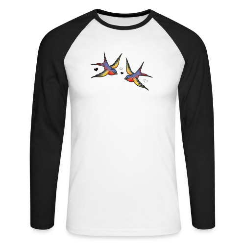 Classic Swallows - Men's Long Sleeve Baseball T-Shirt