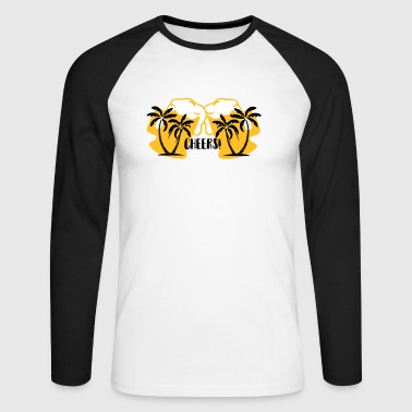 Skål - Langermet baseball-skjorte for menn