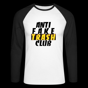 ANTI FAKE TRASH CLUB - Men's Long Sleeve Baseball T-Shirt