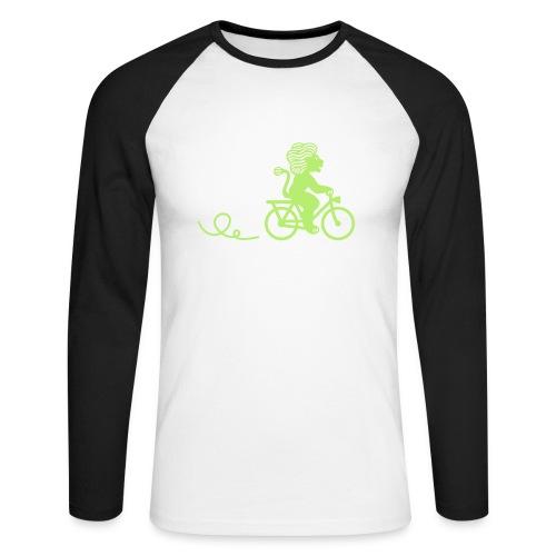 Züri-Leu beim Velofahren ohne Text - Männer Baseballshirt langarm