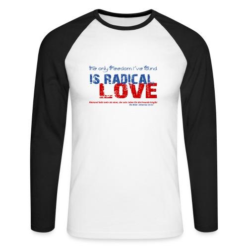 Radikale Liebe blue - Männer Baseballshirt langarm