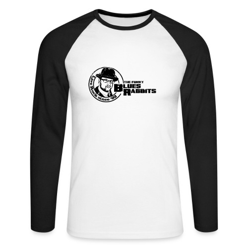 The Funky Blues Rabbits Logo - Männer Baseballshirt langarm