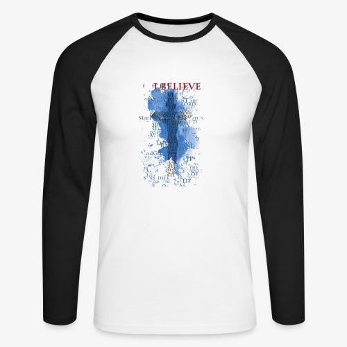 I believe / wierzę - Koszulka męska bejsbolowa z długim rękawem