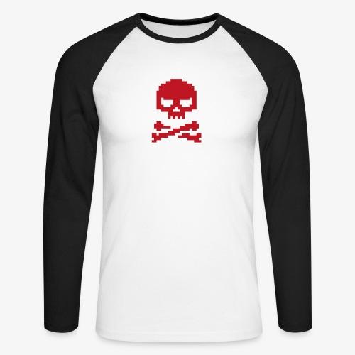 Lords of Uptime Skull - Männer Baseballshirt langarm