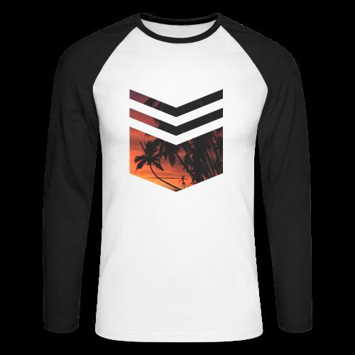 Palm Beach - Männer Baseballshirt langarm