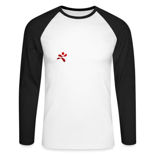 SportsNow-Logo mit weisser Schrift - Männer Baseballshirt langarm