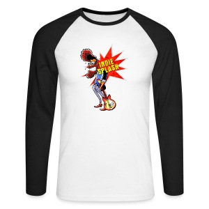 Indie Splash - Männer Baseballshirt langarm