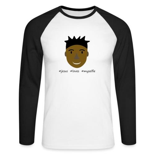 jesus loves myselfie - Männer Baseballshirt langarm